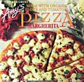 Decorative Packaging On Amy's Margherita Pizza