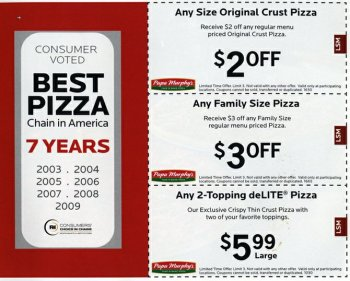 graphic relating to Papa Murphy's Printable Coupons referred to as Papa Murphys Pizza Discount codes