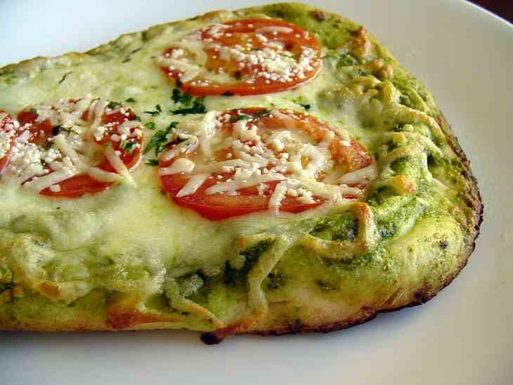 Tandoor's Just-Baked Cilantro Pesto Pizza